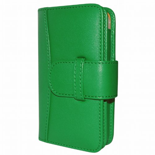 Special Sale Apple iPhone 5 / 5S Piel Frama Green Leather Wallet