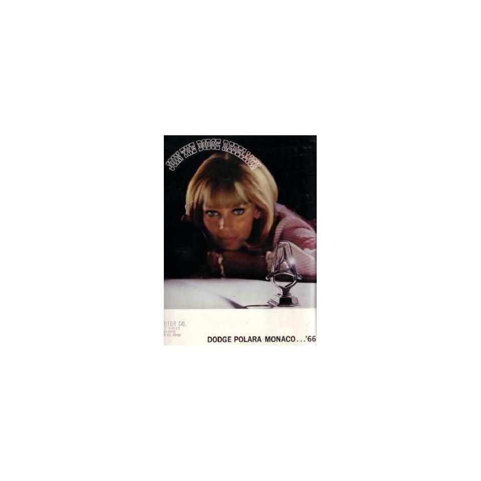 1966 Dodge Monaco Polara Sales Brochure Literature Book Advertisement Specs
