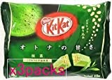 Japanese Kit Kat - Maccha Green Tea Bag 4.91 oz by Nestle [Foods]