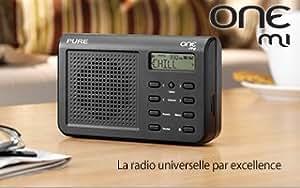 Pure - VL-61436 - RADIO DIGITALE ONE MI NERA LA RADIO DIGITALE DAB E DAB PER TUTTI COLORE NERO