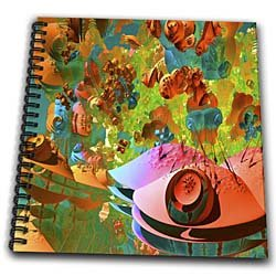 Our geometric abstract art is one of a kind and the detail is enhanced eye candy. - Drawing Book 8 X 8 Inch