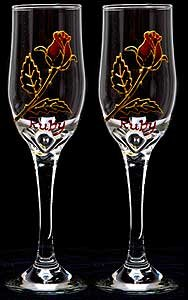 Amazon Hand Painted Wine Glasses  Champagne Flutes