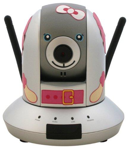 【Amazonの商品情報へ】PLANEX ペットの見守りに最適な 11n/b/g無線・有線LAN対応パン・チルトネットワークカメラ (ワンワンデザインモデル) CS-WMV04N-D