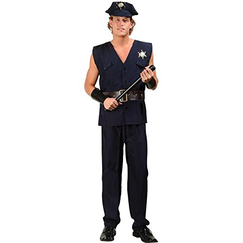 Men's Sexy Cop Costume (Size:X-Large 44-46)