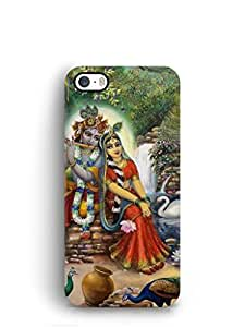 Cover Affair Radhe Krishna Printed Back Cover Case for Apple iPhone 5