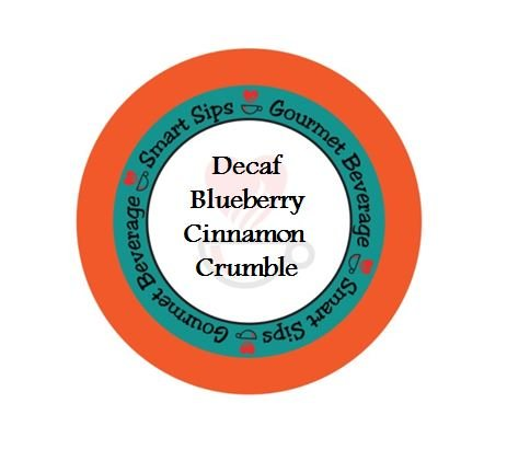 Smart Sips, Decaf Blueberry Cinnamon Crumble Coffee, 24 Count, Compatible With All Keurig K-cup Machines (Godiva Espresso Beans compare prices)