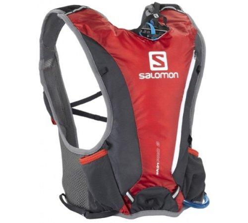 Salomon Salomon Skin Pro 3 Hydration Running Pack, Red/Asphalt