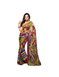Triveni Fancy Saree With Unstitch Blouse - 4920
