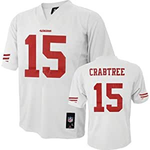 Michael Crabtree San Francisco 49ers #15 NFL Youth Alternate Jersey White (Youth Medium 10/12)