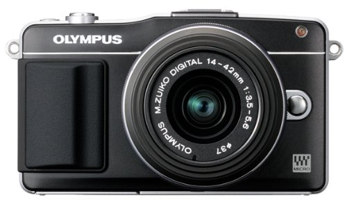 410Ps3AN7BL Olympus E PM2 Interchangeable Lens Digital Camera with 14 42mm Lens (Black)