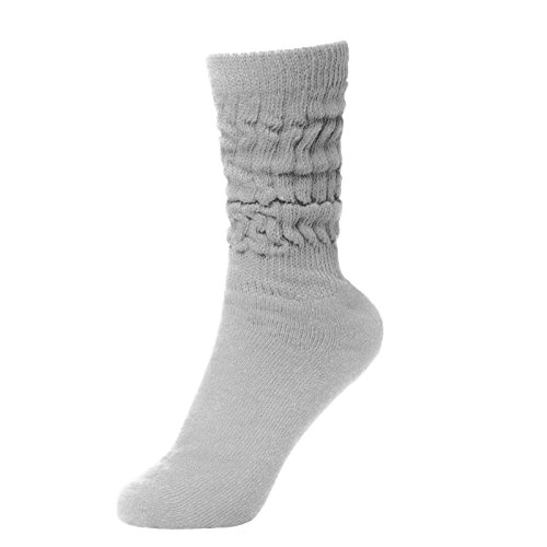 BRUBAKER Womens Or Mens Fitness Workout Slouch Socks Gym Light Grey EU39-42 / US6.5-10