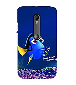 ifasho Designer Phone Back Case Cover Motorola Moto G3 :: Motorola Moto G (3rd Gen) :: Motorola Moto G3 Dual SIM ( Colorful Pattern Design Star Fish )