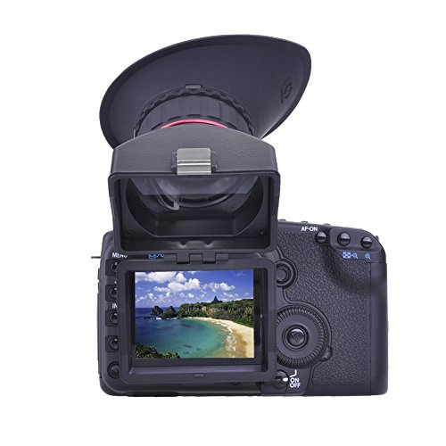 """Neewer S2 Foldable 3""""/3.2"""" 4:3/3:2 LCD Viewfinder 3X Optical Magnification 1:1 Sunshade Hood with Adapter Frame for CANON 5DIII NIKON D800 DSLR Cameras"""