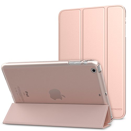 iPad Mini 3 / 2 / 1 Case - MoKo Ultra Slim Lightweight Smart-shell Stand Cover with Translucent Frosted Back Protector for Apple iPad Mini 1 / Mini 2 / Mini 3, Rose GOLD (with Auto Wake / Sleep)