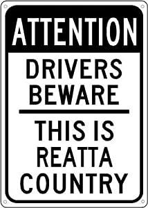 BUICK REATTA Drivers Beware Sign