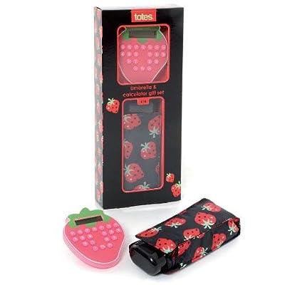 totes Strawberry Calculator & Umbrella Gift Set (Strawberries)