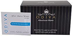 ODIVA Aftershave Wipe - 3.93 x 2.55 inches (Pack of 50 Sachets)