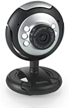 TeckNet C016 720P Webcam de alta definición con conector USB (30 fps, 1280 x 800 Pixeles, 5 MP, CMOS, 6 LED integrados, micrófono integrado)