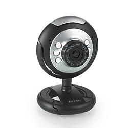 TeckNet® C016 USB HD 720P Webcam, 5 MegaPixel, 5G Lens, USB Microphone & 6 LED