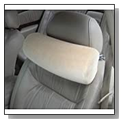 Memory Foam Car Neck Pillow With Headrest Strap,TAN