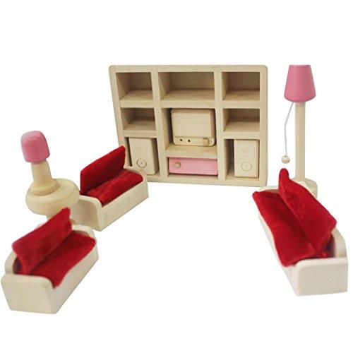 DEHANG-Kinder-Mdchen-Lounge-Zimmer-Lustigkeit-Holzmbel-Spielzeug-Set-11-Stcke