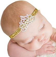 Feitong Lovely Princess Kids Niñas Rhinestone Diadema Flores Diademas Accesorios para el pelo