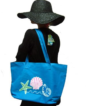 Canvas+Shell+Tote+Bag+%28Blue%29