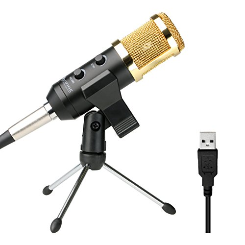 Recording Microphone Usb Fifine Plug & Play Condenser Microphone For PC/Computer(Windows,Mac,Linux OX),Podcasting,Recording-Black(K058) (Computer Mixing Software compare prices)