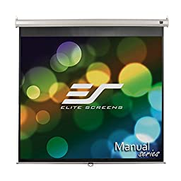 Elite Screens Manual, 113-inch 1:1, Pull Down Projection Manual Projector Screen with Auto Lock, M113NWS1