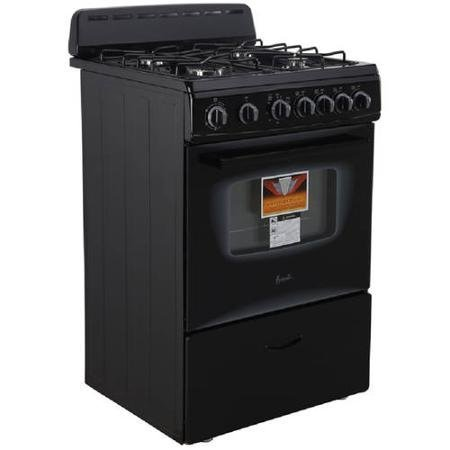 Automatic-24-Gas-Range-Freestanding-See-Thru-Glass-Oven-BakeBroil-Black