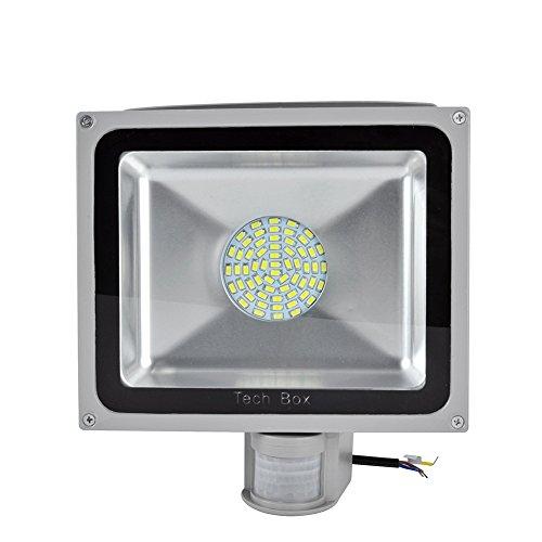 Cool White 50W Pir Motion Sensor Smd Led Flood Light Outdoor Spotlight Lamp