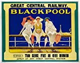 Paramount Prints BLACKPOOL Great Central Railway Vintage Art Deco Railway Poster - Poster Size : Super A1