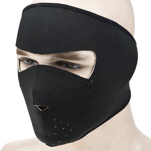 1x Reversible Windproof Black Tribal Classic Skull Neoprene Half Face Mask Facemask Headwear Vented Velcro Adjustable Motorcycle Atv Biker Bike Cycling Mask