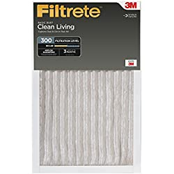 Filtrete Clean Living Basic Dust Filter, MPR 300, 16 x 25 x 1-Inches, 6-Pack