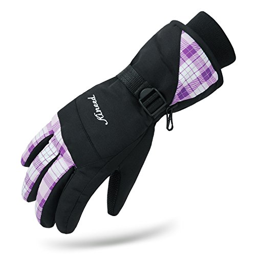 Kineed Waterproof Women Winter Ski Skiing Snow Warm Gloves