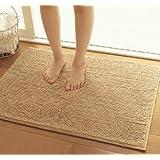 """KLOUD City® Camel color anti-slip microfiber doormat bedroom kitchen area rug carpet (31"""" x 20"""")"""