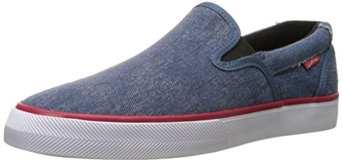 C1RCA Men's Corpus Skate Shoe, Seaport Blue/Red, 8.5 M US