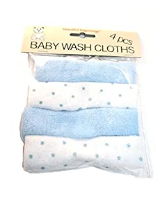 Beautiful Beginnings Four Baby Blue Wash Cloths en BebeHogar.com