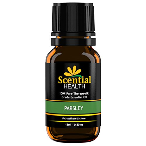 Scential Health Parsley Essential Oil 15ml (.5oz) 100% Certified Pure Therapeutic Grade Essential Oil With No Fillers, Bases or Additives AND ZERO Carrier Oils