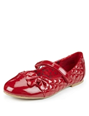 Quilted Bow Patent Shoes