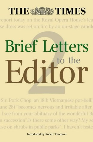 The Times: Brief Letters to the Editor-Book 2 (Bk.2) PDF