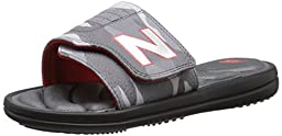 New Balance Classic WP Slide Sandal (Little Kid/Big Kid), Black/Grey, 2 M US Little Kid