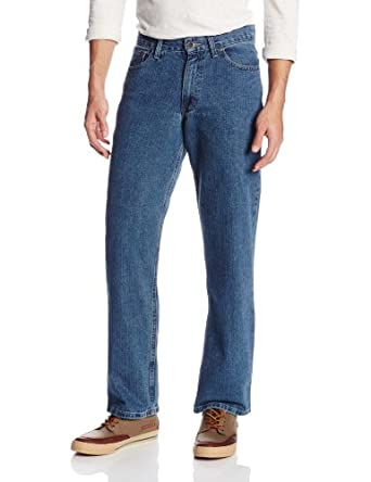 IZOD Men's Relaxed Fit Jean, Vintage Wash, 33x30