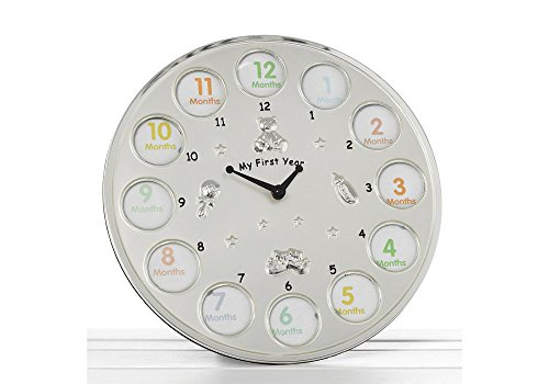 My First Year With Accompanying Picture Per Month Clock By Haysom Interiors