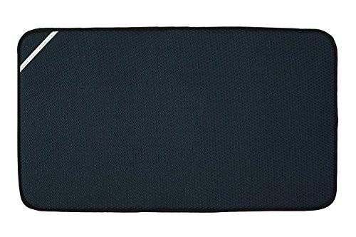 Envision Home Dish Drying Mat - 18 × 32 - Black (Jumbo)