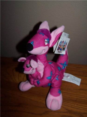 "Retire Disney Its A Small World 9"" Kangaroo And Baby Joey Plush Bean Bag Doll With Tags"