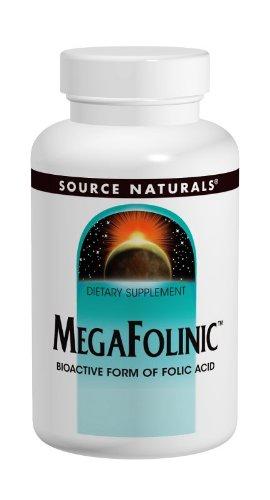 Source Naturals Megafolinic, 800 Mcg 120 Tablets