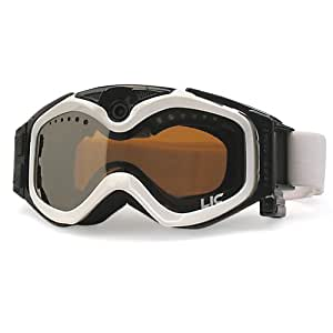 The Liquid Image XSC Summit Series 335W HD Snow Goggle with Integrated True POV HD Video Camera with 1.5x Optical Zoom and 1-Inch LCD Screen - White