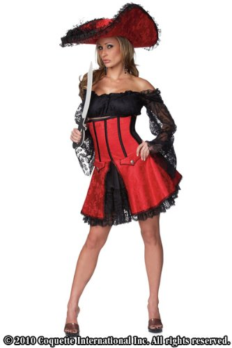Sexy Pirate Wench Costume by Coquette Size Small/Medium