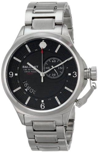 Ballast Men's BL-3126-11 Trafalgar Dress Analog Display Swiss Quartz Silver Watch